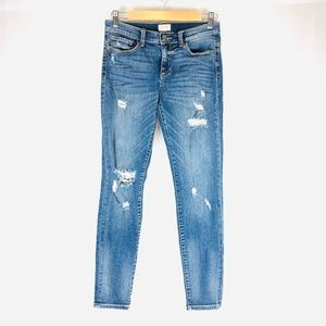 ID:23 HIGH RISE DISTRESSED SKINNY JEANS 25
